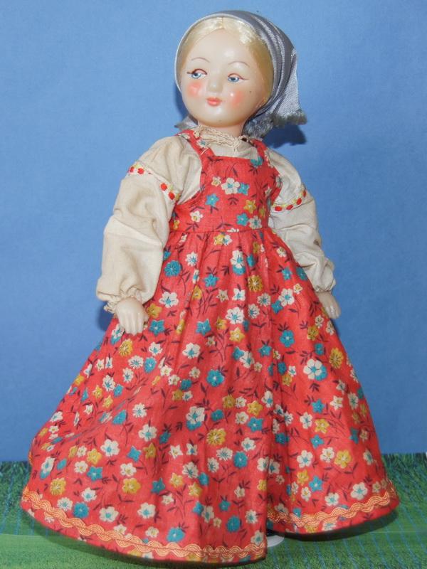 Русский наряд для куклы
