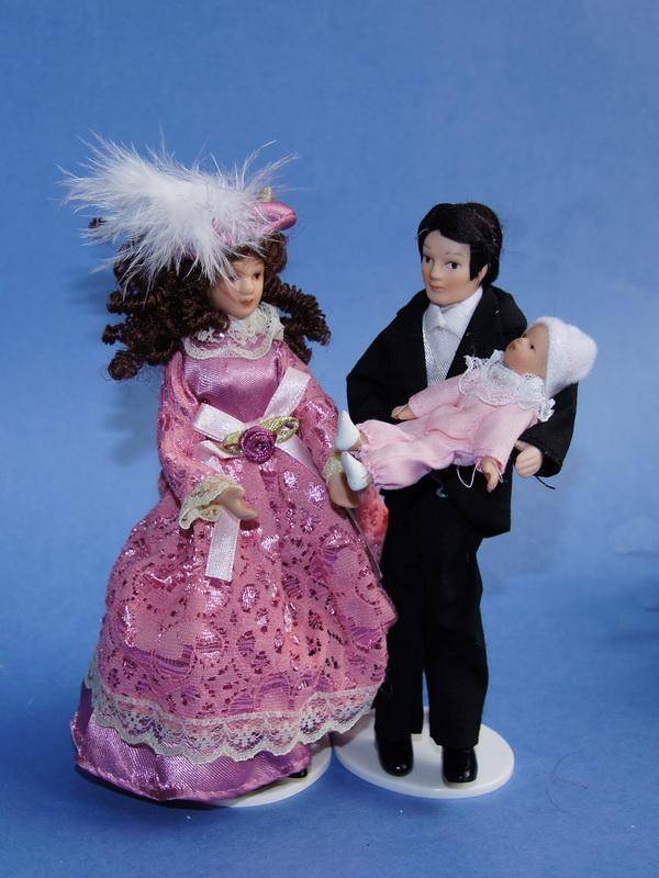 Руки, ноги...  2390. Красивая молодая семья для кукольного домика.